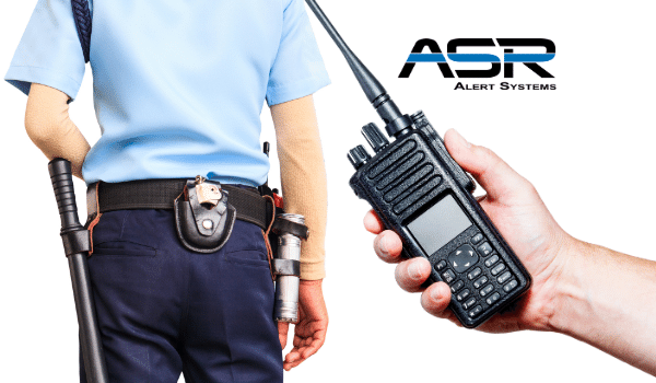 Police Officer with Hand Held Radio