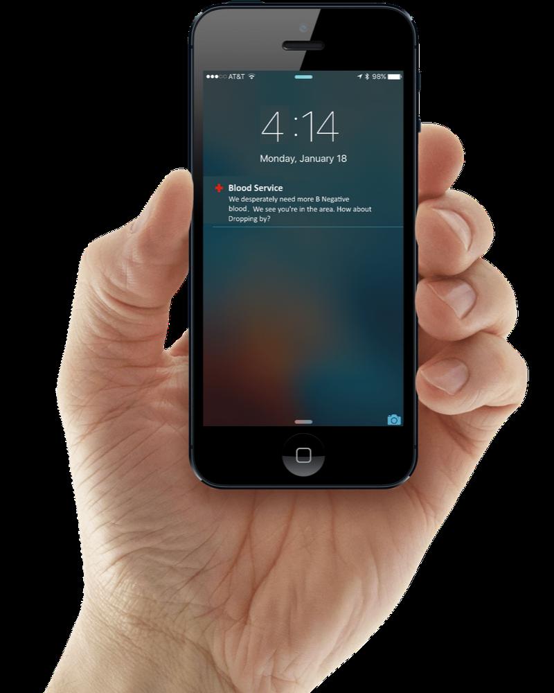 Hand Holding Phone Transp Back
